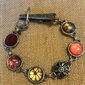 Lucky Brand flower beaded bracelet